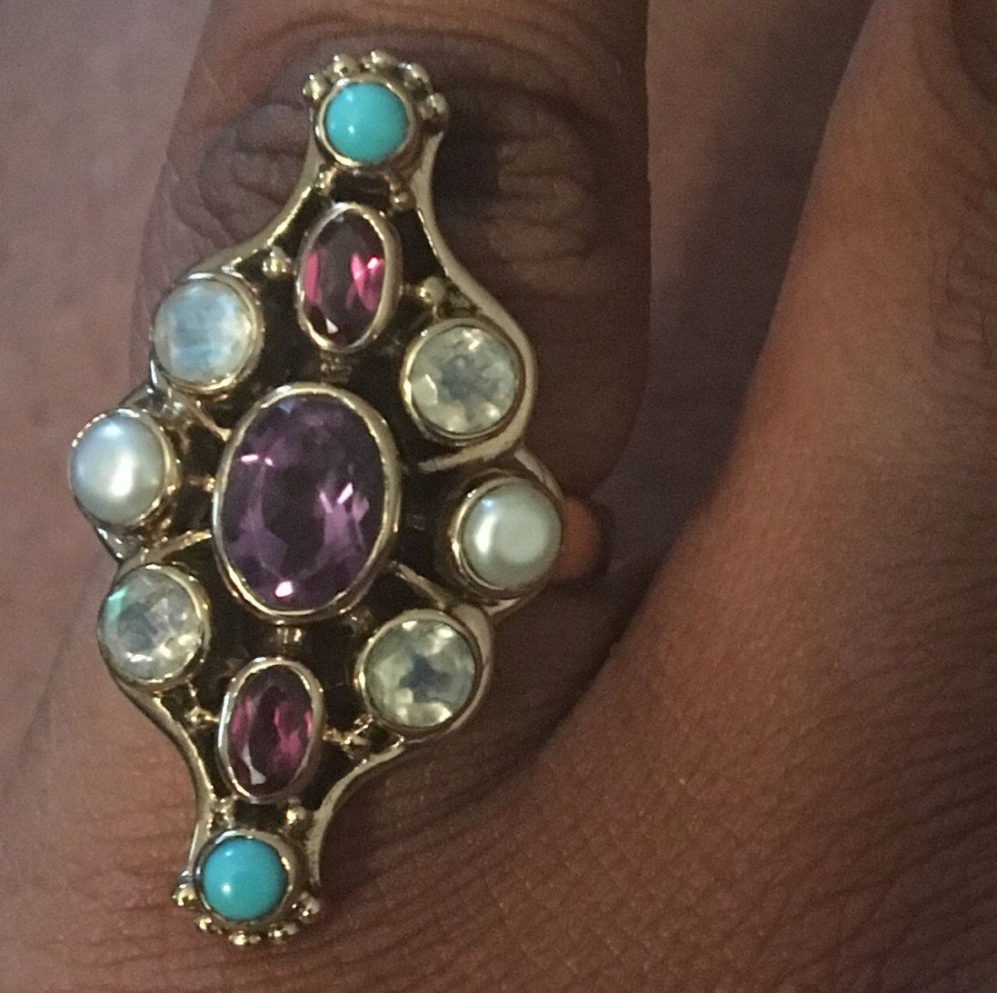 Nicky Butler Multi Gemstone Marquis Ring by ConnorsCraftCorner on Etsy