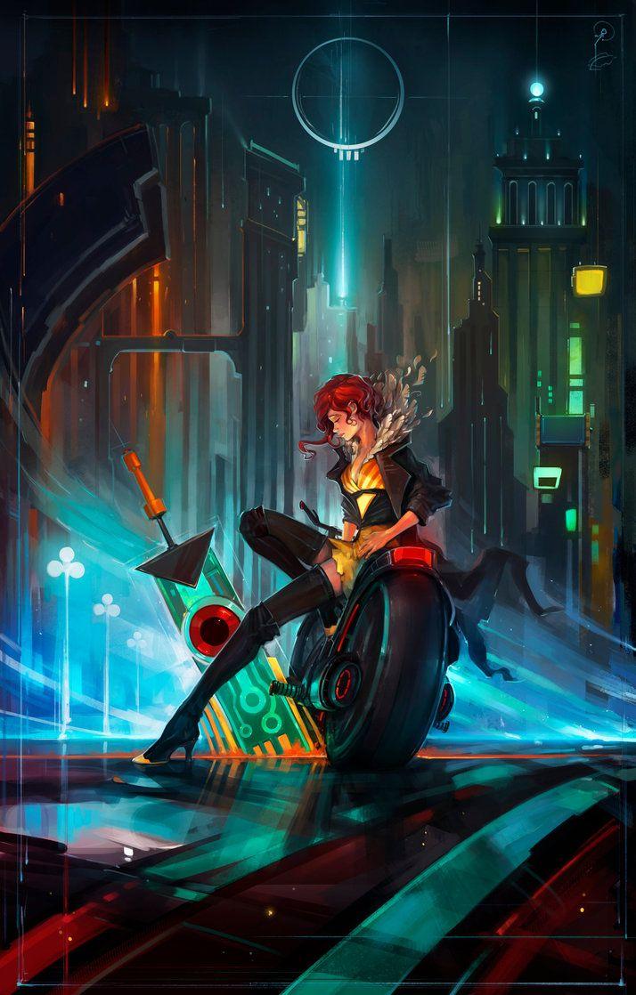 """Transistor"" by Igor Artyomenko (haryarti) #SciFi #Illustration #Cyberpunk. """