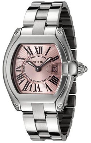 32289f02ff3 W62017V3 Cartier Roadster Ladies Quartz Pink Dial Watch