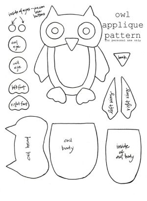 Owl Applique Pattern By Enid  Sewing    Applique