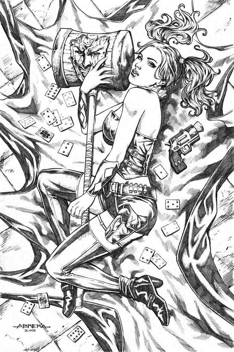 Harley Quinn By Juliusdean On Deviantart Coloring Book Harley