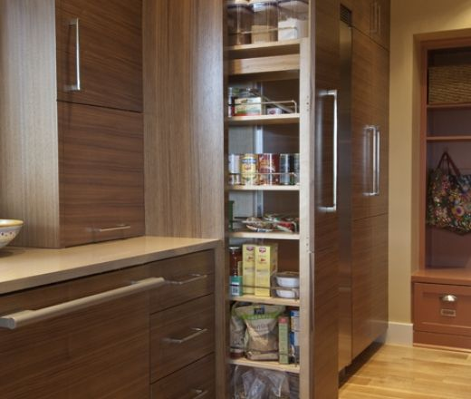 Contemporary Galley Style Kitchen, Oak Cabinets, $50,000