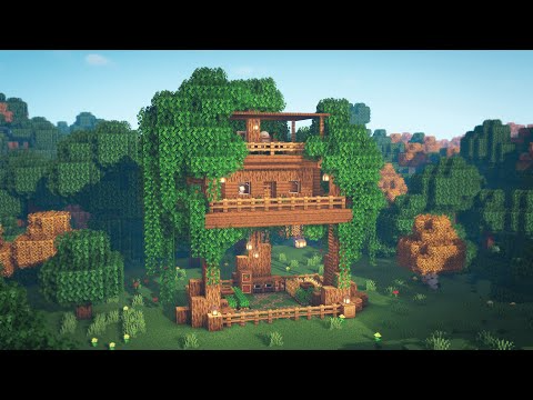110 Minecraft How To Build A Treehouse Youtube In 2020 Building A Treehouse Minecraft House Tutorials Tree House