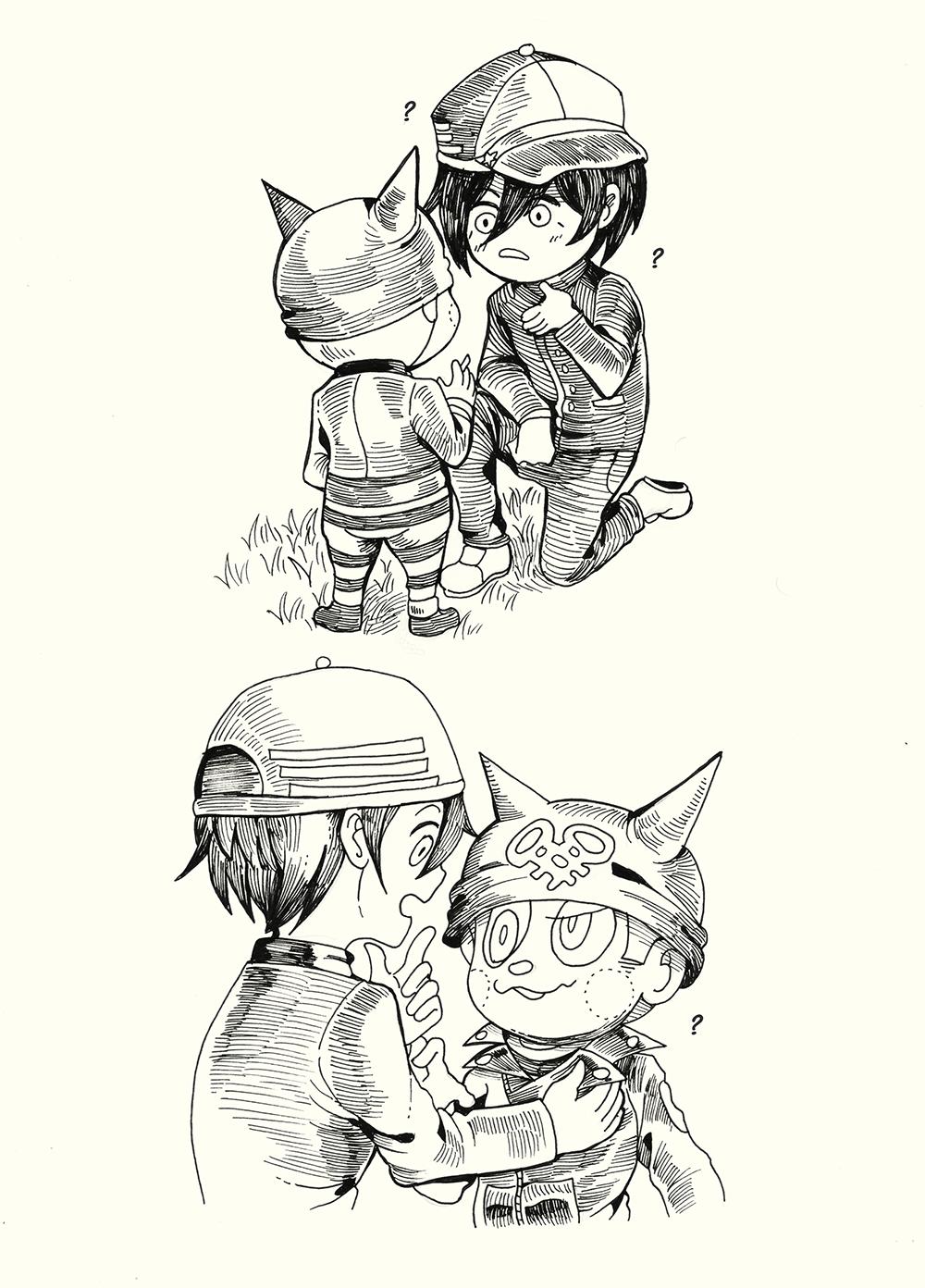 Shuichi Notices The Buttons On Ryoma S Jacket Danganronpa Characters Danganronpa Anime Ryouma hoshi is a character. shuichi notices the buttons on ryoma s