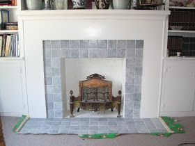 How To Paint Tile Around Fireplace To Give It A Modern Look