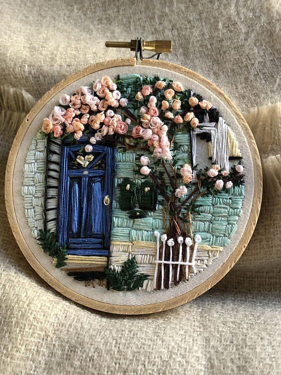 Nr. 2 Blossom – Hand Embroidery art piece, Embroidery hoop art, new year gift, needle work, home decoration, housewarming, hand stitch