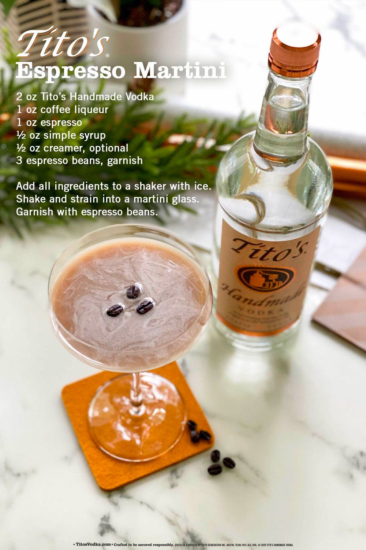 Shake Up A Tito S Espresso Martini This Season Martinis Drinks Drinks Alcohol Recipes Alcoholic Drinks