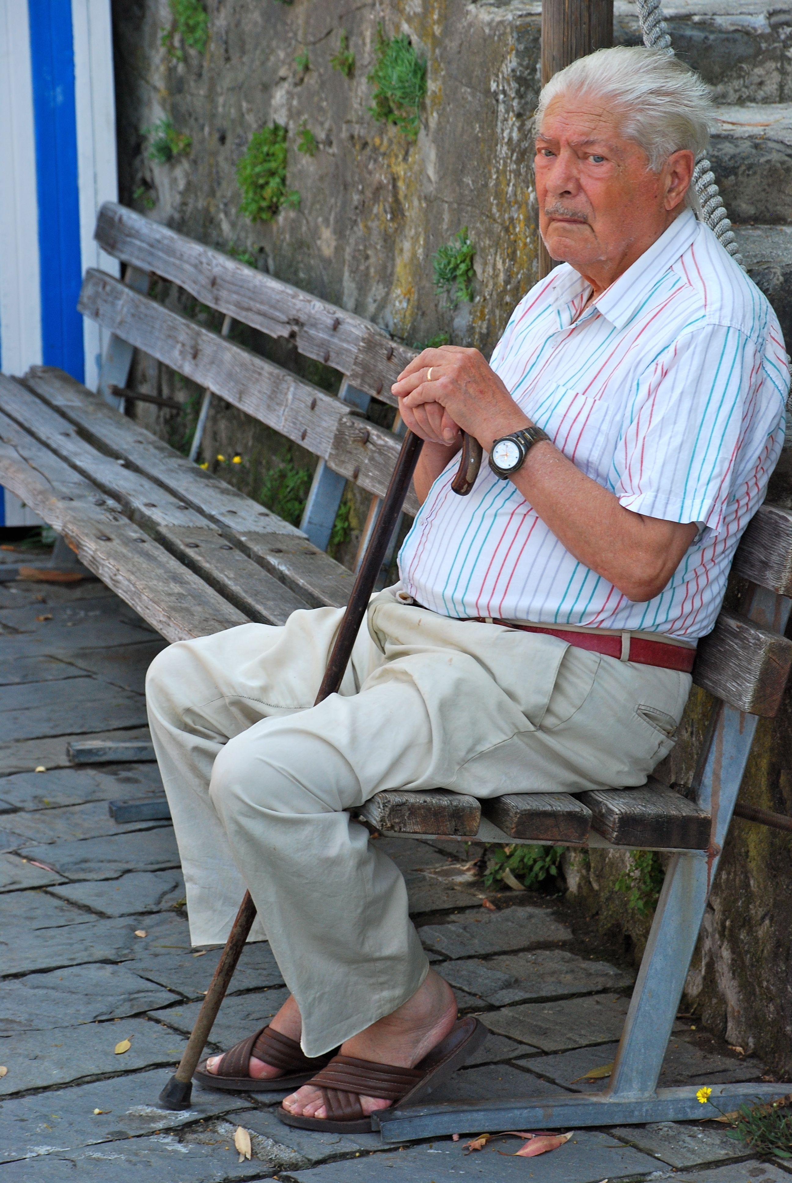 old man sleeping meme