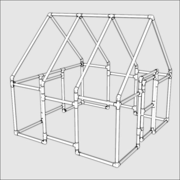 Pvc kids playhouse large playhouses pvc projects and for Pvc playhouse kit