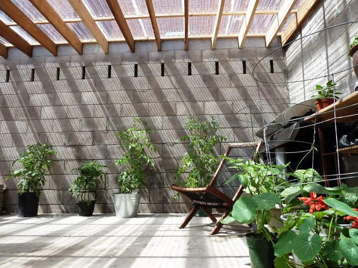 A Transparent Roof Gave This Old Cinder Block Garage A New Life As A  Greenhouse