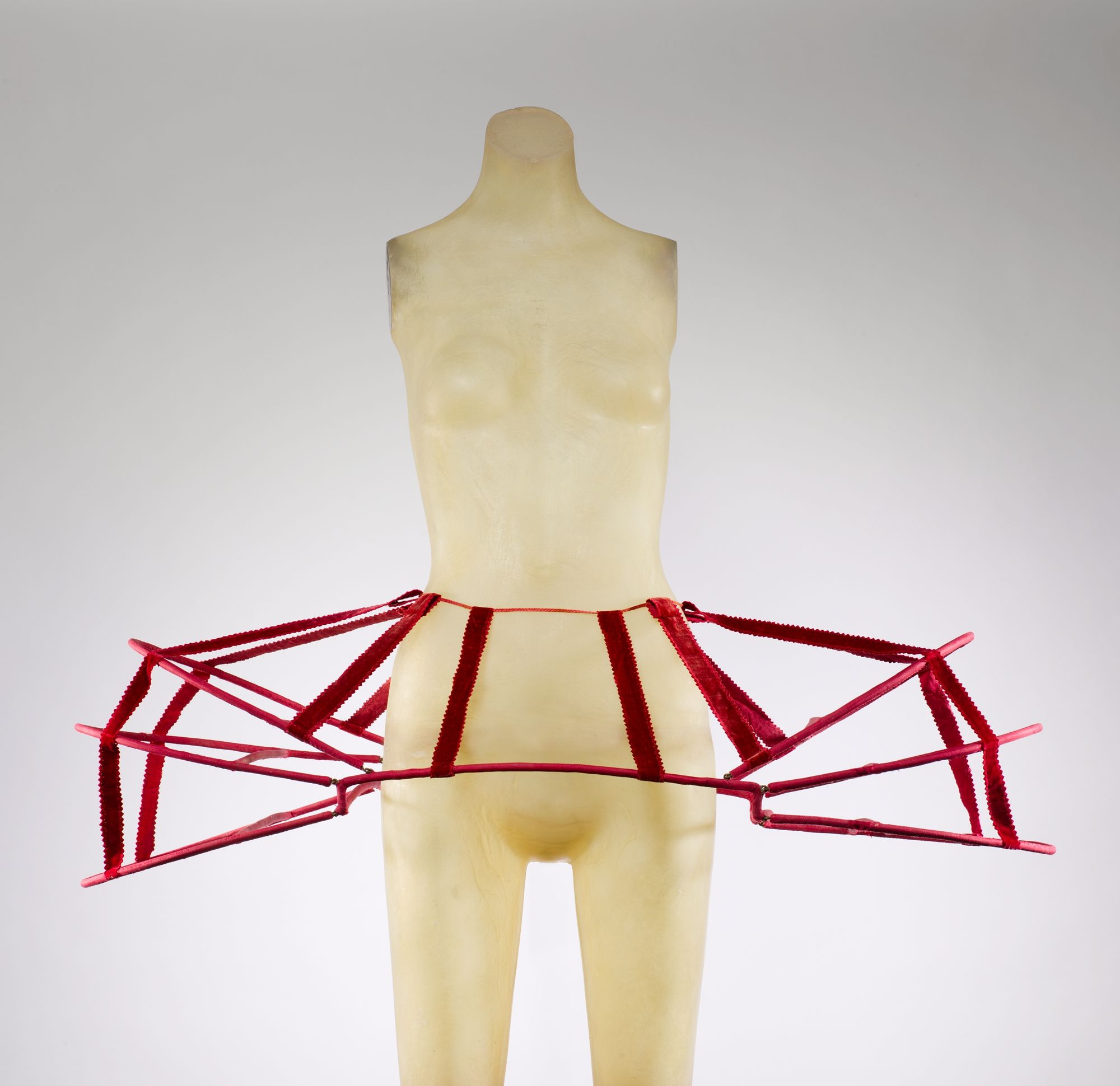 French panniers from the late 18th century made of silk cane and metal. Worn by women to give their gowns shape.