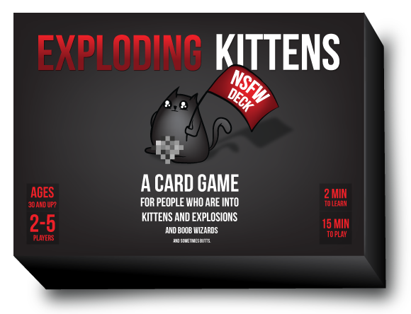Exploding Kittens A Card Game For People Who Are Into Kittens And Explosions And Laser Beams And Som Exploding Kittens Exploding Kittens Card Game Card Games