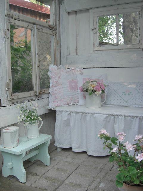 Pin by Elke on Kuchen Pinterest Shabby, Porch and Bench - shabby chic küchen