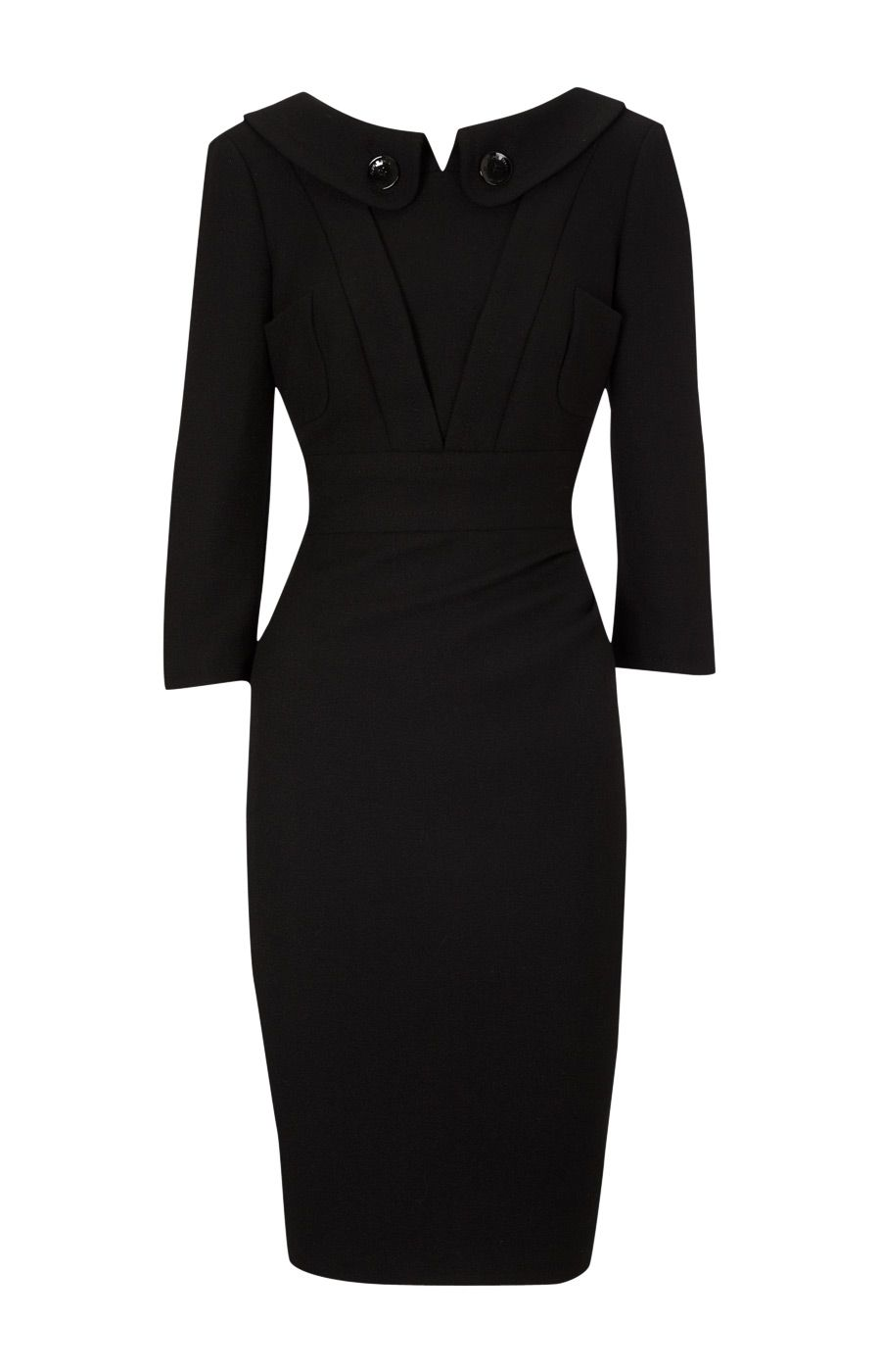 Karen Millen Backless Crepe Coat Dress Black - Jewelry-Gemstone,Pearl,Crystal,Gem -Eastern Gift