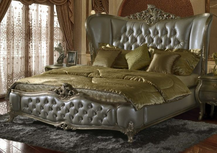 Luxurious California King Beds With Green Bedding Bed Headboard