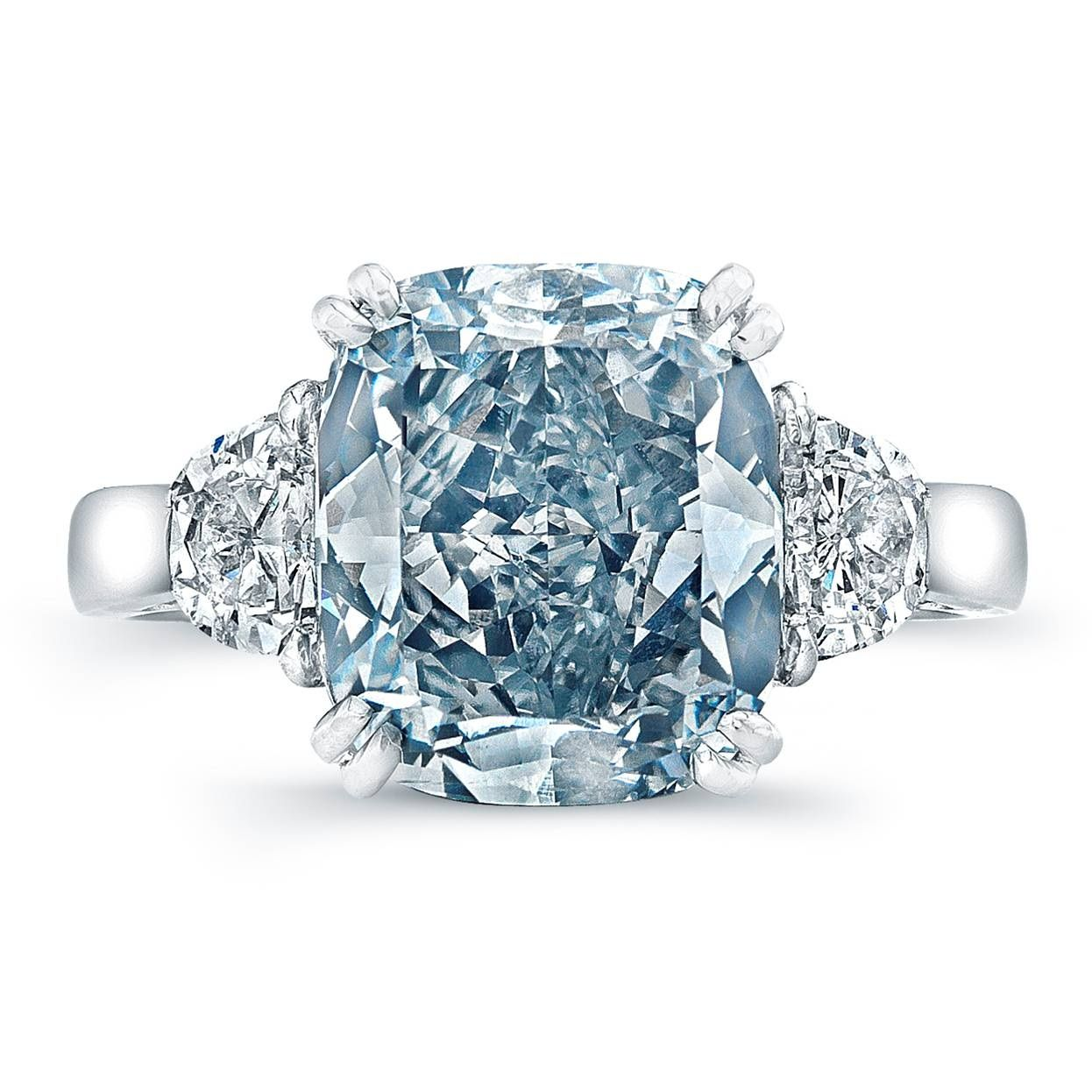 5 Engagement Rings For The Unconventional Bride Eiseman Jewels Blue Engagement Ring Blue Diamond Ring Blue Diamond