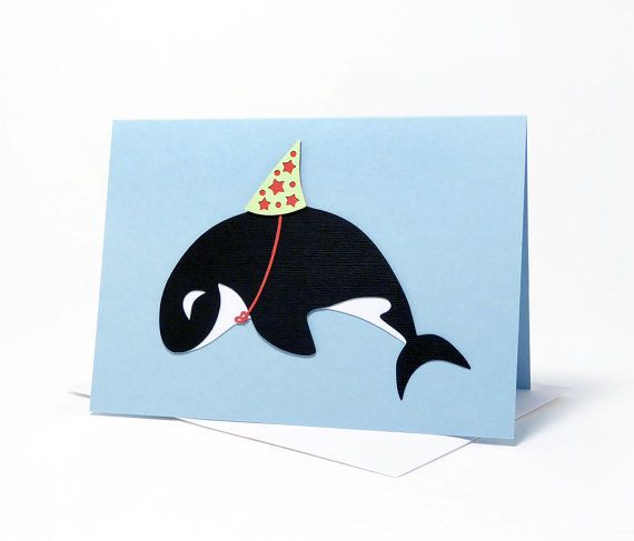 Happy Birthday / Celebration Orca Layered Paper by