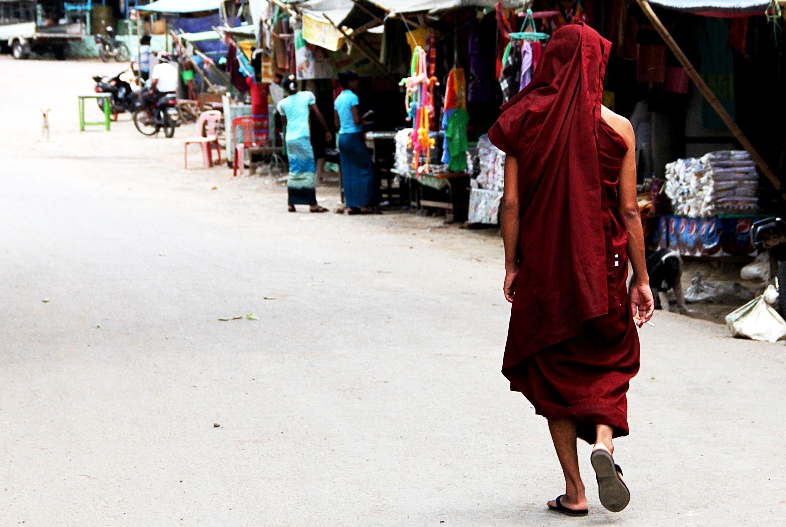 A monk in Mandalay (Myanmar)
