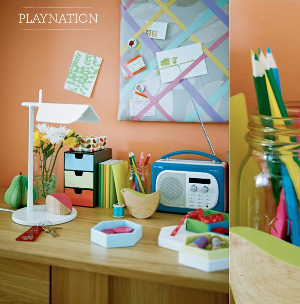 colourful desk accessories intriguing interiors pinterest desk rh pinterest com