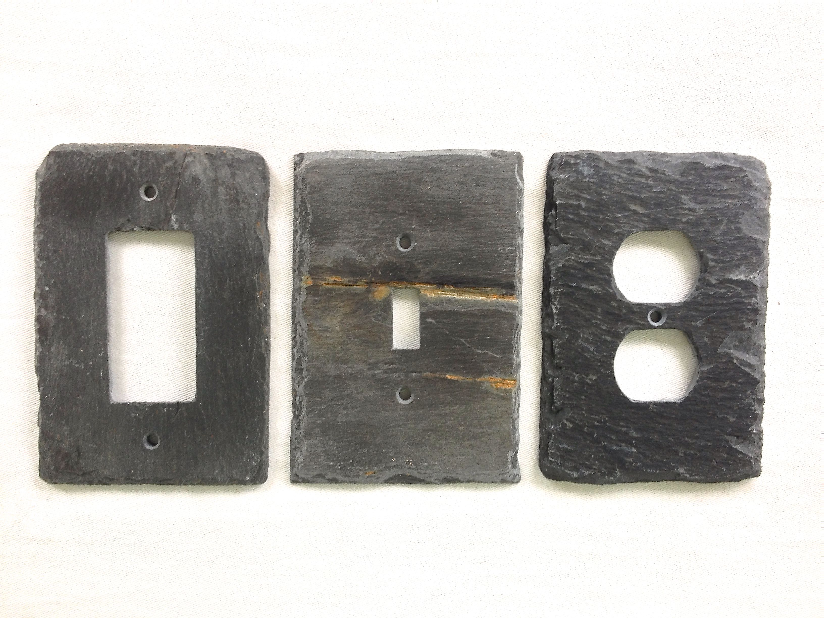 Decorative Light Switch Plates Decorative Light Switch Cover Gfis Rocker And Outlet Slate Wall
