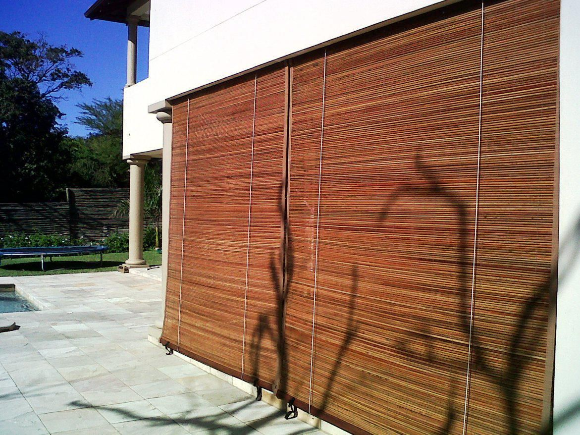 large outdoor bamboo shades unique