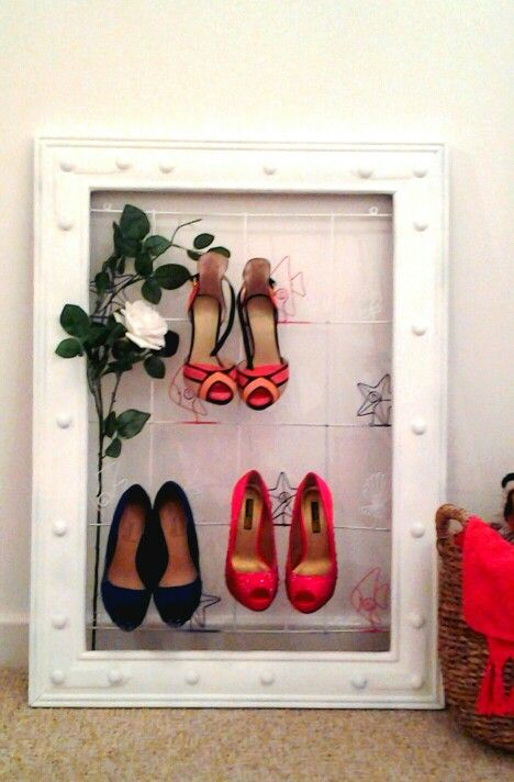 ♥My DIY Idea For Unique Pretty Shoe/ High Heel Storage♥ 1. Wire