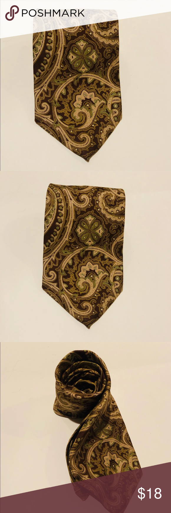 Austin Reed 100 Silk Paisley Multicolored Tie Austin Reed Paisley Tie