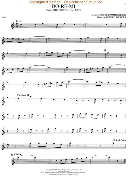 The Sound Of Music Flute Flute Sheet Music Sound Of Music