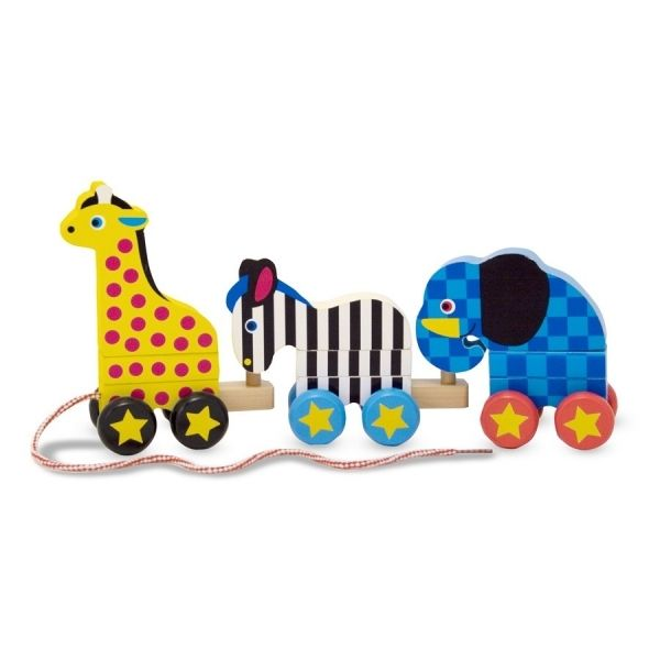 Melissa & doug pull-along zoo animals | Baby learning toys ...