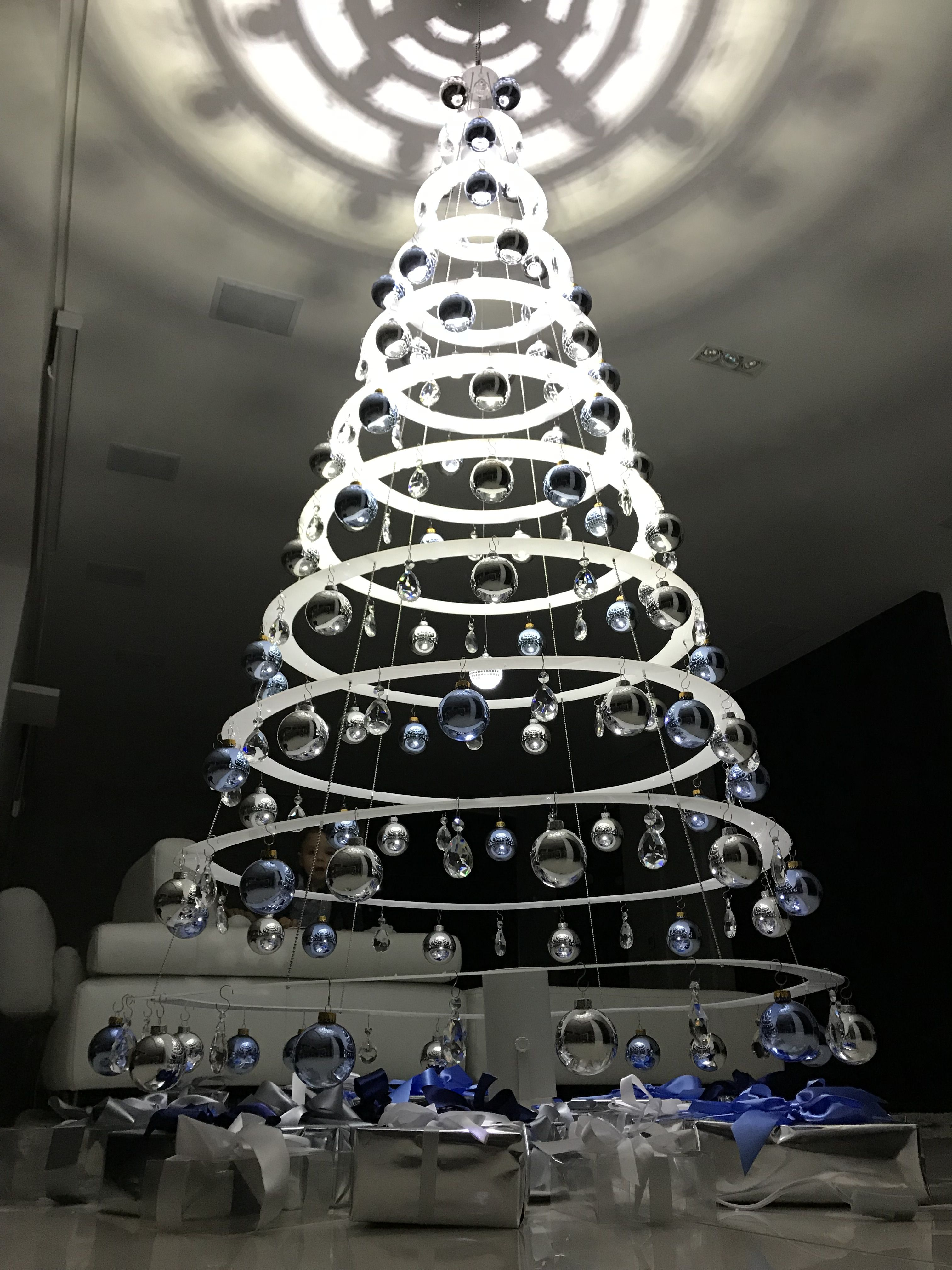 modern christmas trees decorated beautiful unique home decor