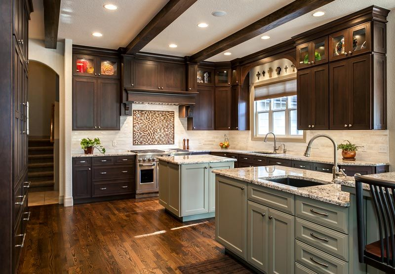 denver kitchen remodel double sinks butlers pantry | Kitchen ...