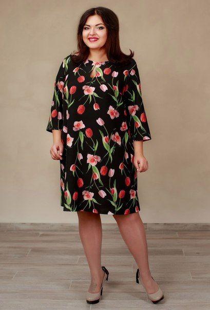 6eafd1c2ee9014e Платья больших размеров 52-64 для полных | Plus size dresses in 2019 ...