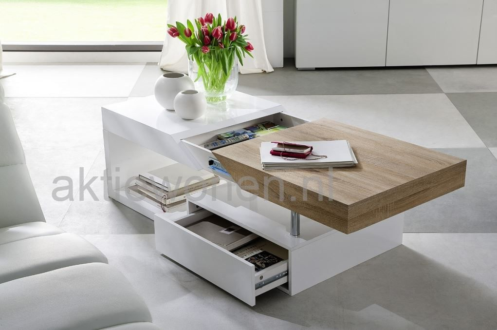Salon Tafel Wit : Op zoek naar een salontafel wit hoogglans ga naar aktie wonen
