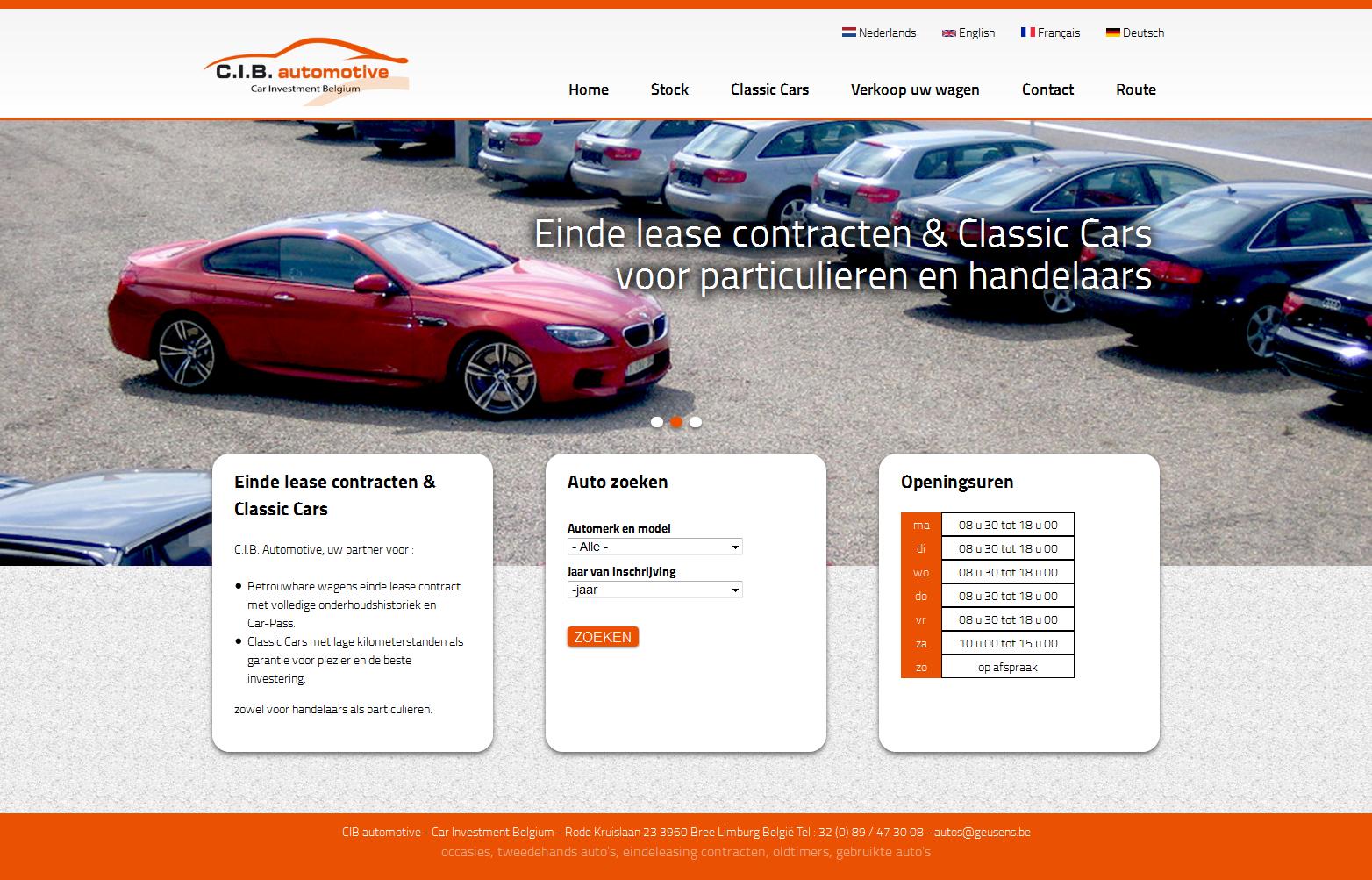 Webdesign inspiration    occasie auto's