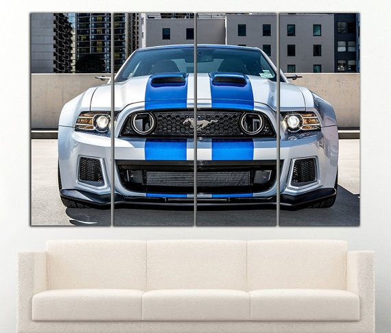 Ford Mustang Gt Canvas Ford Mustang Gt Print Ford Mustang Wall Art Ford Mustang Wall Decor Sportcar Wall Art Canvas S Sports Wall Art Car Wall Art Canvas Decor
