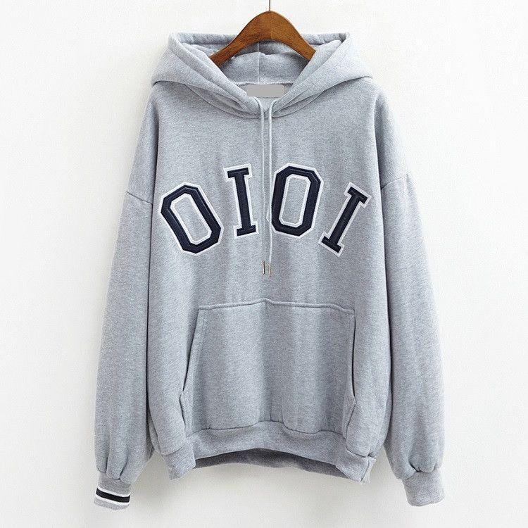 Hoodies Women Hooded Sweatshirts 2016 Winter Casual Design Hoody Girls  Oversized Pullover Tops Woman Plus Size Warm Coat Sweats. hoodies women  autumn 2017 ... ee0fc6968196