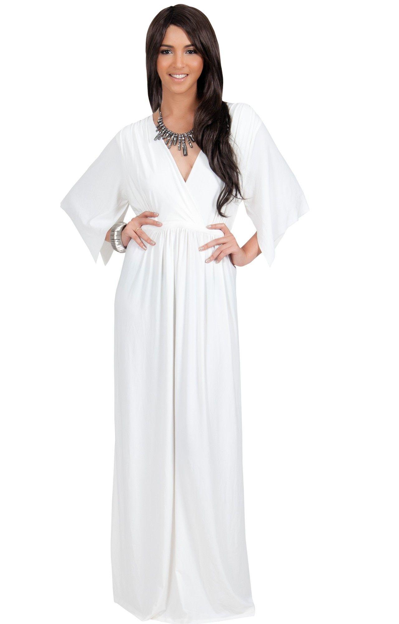 Plus Size Maxi Dress Full Figure Curvy Slimming Flattering
