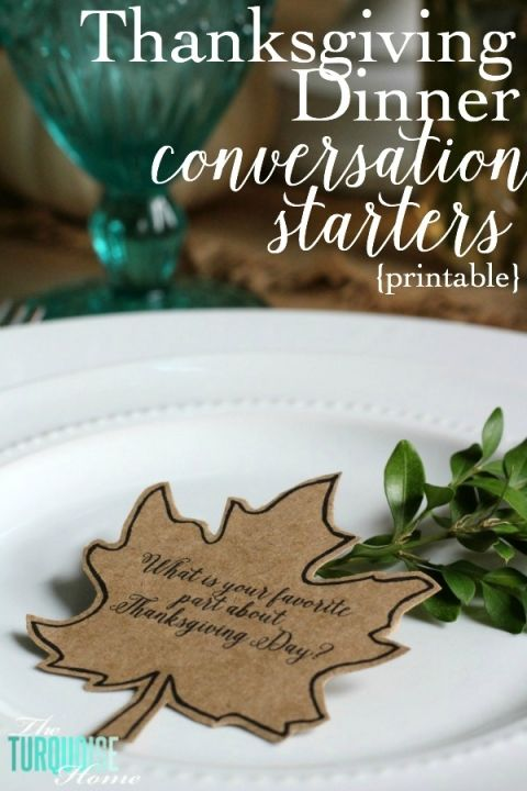 Thanksgiving Dinner Conversation Starters {printable}