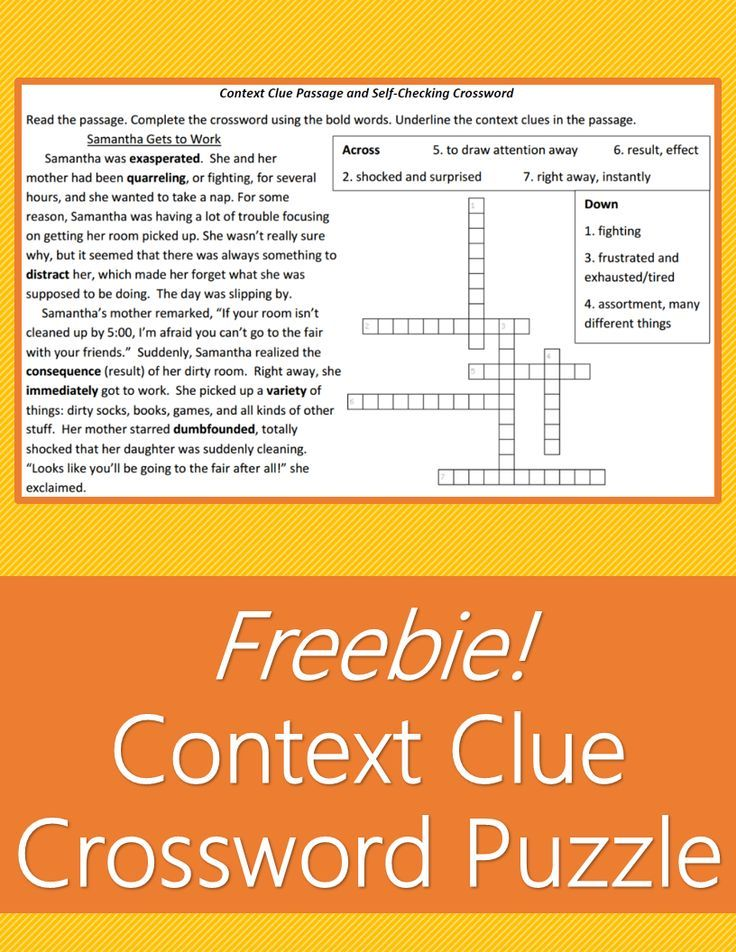 Determining Meaning Using Context Clues Worksheets | Education.com