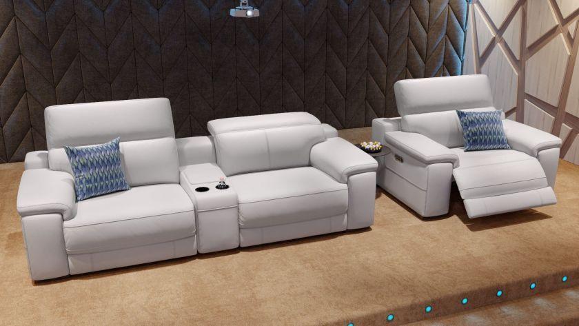 Das Perfekte Heimkino Sofa Das 2 Sitzer Ledersofa Sora Erinnert An
