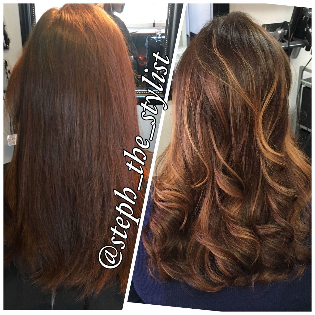 Balayaged Hair Using 5cm Chi Ionic Haircolor And Sunglitz Hair By