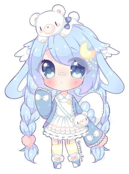Valyriana Blue Girl Chibi Anime Kawaii Cute Animal Drawings Kawaii Cute Anime Chibi