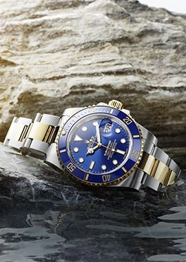 Sea-Dweller Watch: Yellow Rolesor - combination of Oystersteel and 18 ct yellow gold - M126603-0001 #rolexwatches