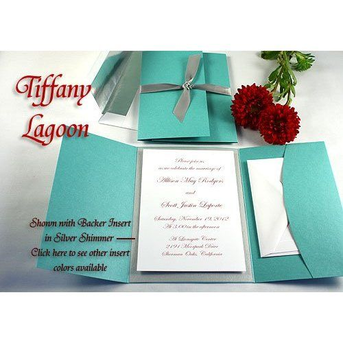 Tiffany Blue Wedding Invitations Kits