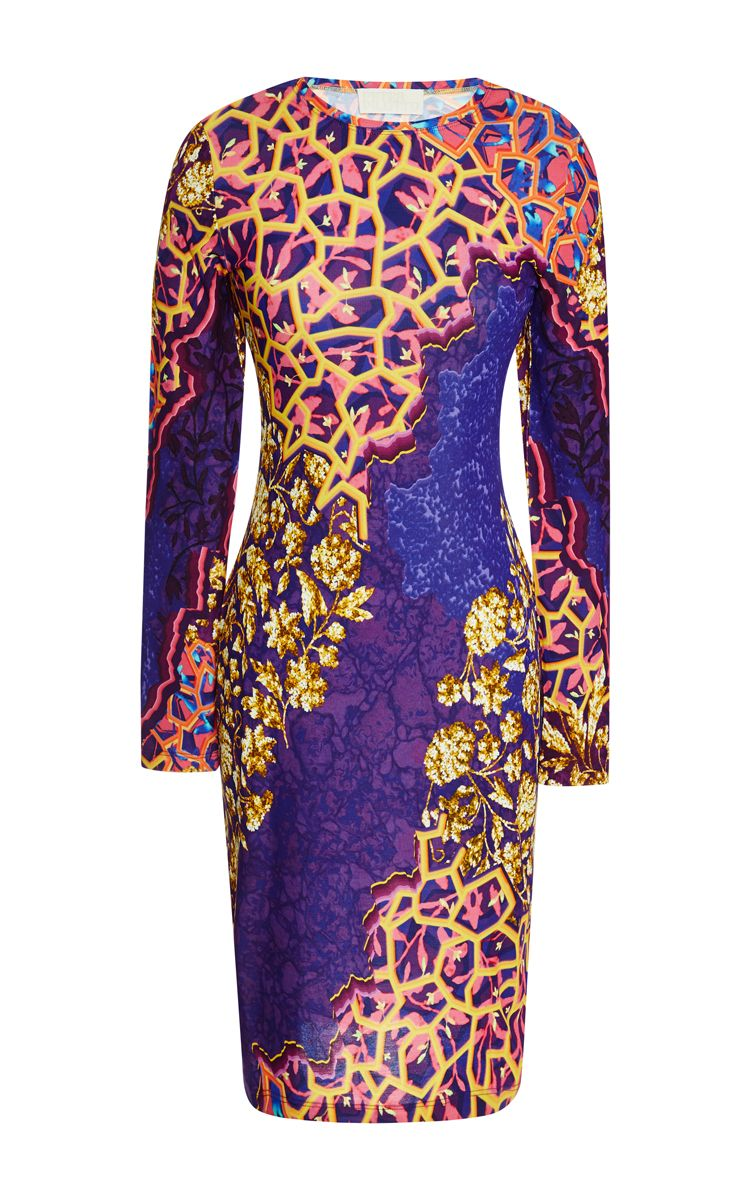 Printed crepejersey dress by peter pilotto moda operandi african