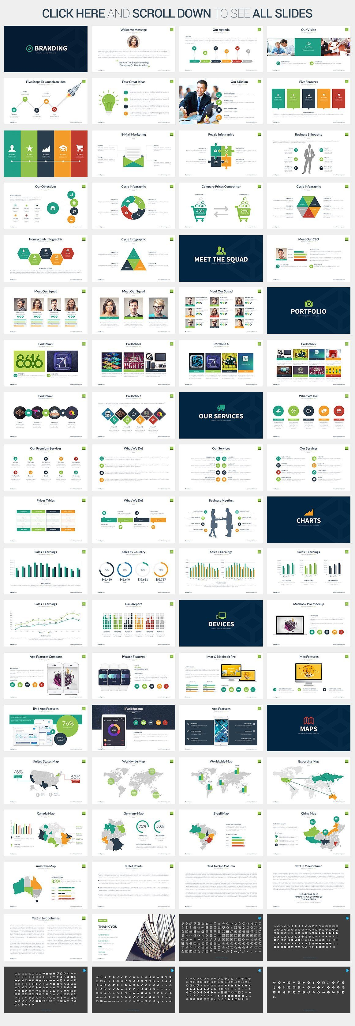 Branding - Keynote Template by SlidePro on @creativemarket | highs ...