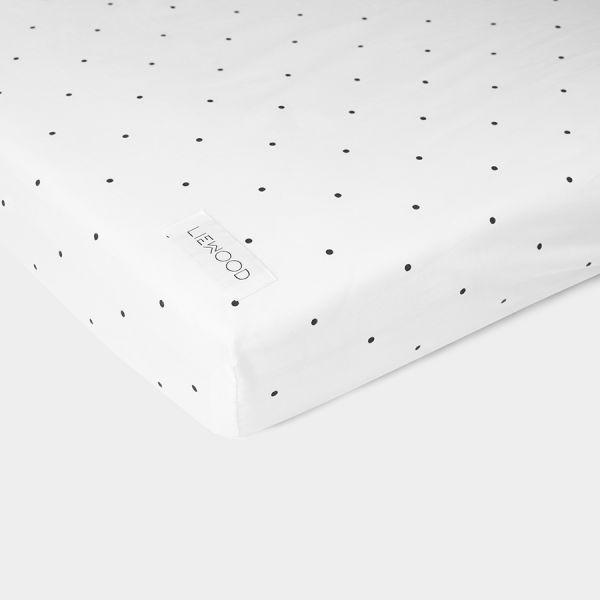 drap housse pois Drap housse bébé imprimé pois en coton biologique Adapté aux lits  drap housse pois