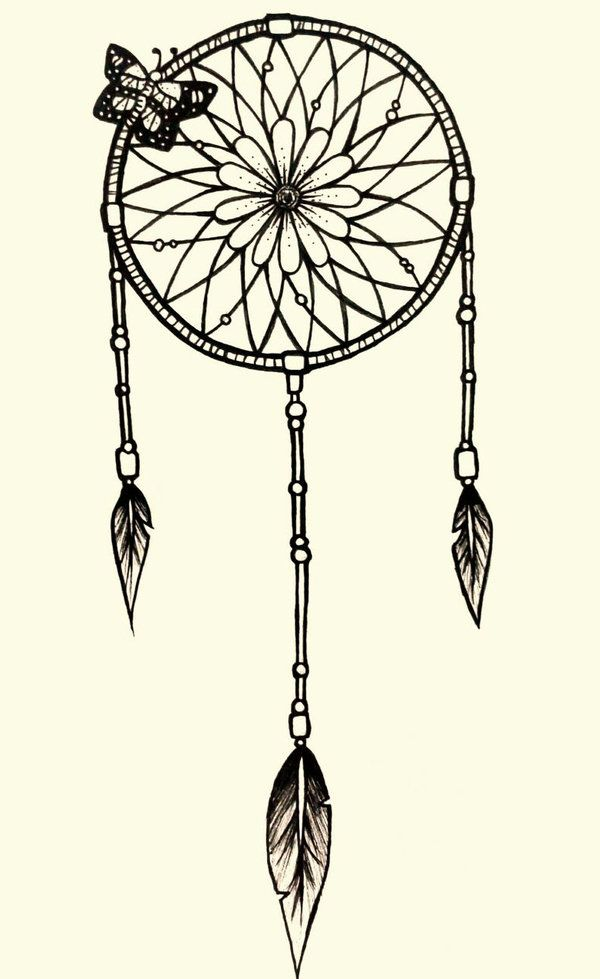 Simple Dream Catcher Tattoos simple dream catcher tattoo Google Search ink Pinterest 15