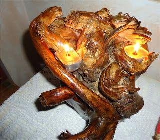 vecchio ciocco di legno