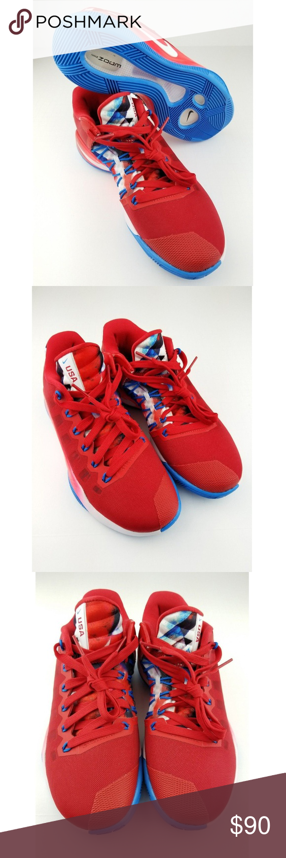 new product fe2b7 6b36b Nike Hyperdunk 2016 Low Olympics USA Red SIZE 7 Nike Hyperdunk 2016 Low  Olympics USA Red - 876499-699 - Women s - 7 SIZE 7 A4-2 Condition New  without box ...
